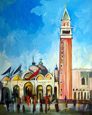 Italian Landscape Mixed Media - San Marco Square by Filip Mihail