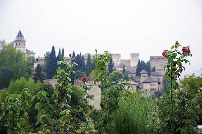 Rainy Day Photograph - San Nicolas View Of The Alhambra On A Rainy Day - Granada - Spain - Spain by Madeline Ellis
