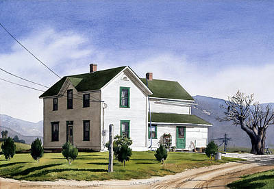 San Pasquale House Print by Mary Helmreich