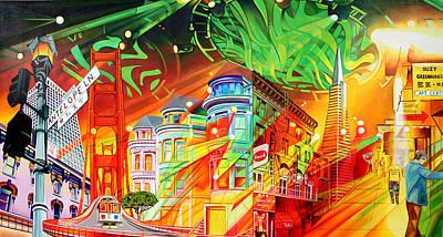 Phish Painting - San Phranphisco by Joshua Morton