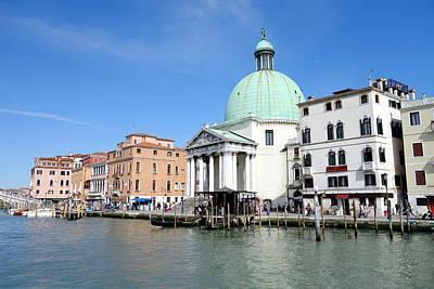 Venecia Photograph - San Simeone Piccolo by Valentino Visentini