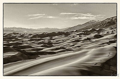 Landscape Photograph - Sand Dunes In Sepia by Gene Tewksbury