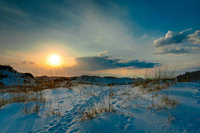 Sand Dunes Of The St. Joeseph Peninsula Print by Rich Leighton