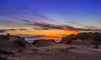 Sand Dunes Sunset Print by Paul Madden