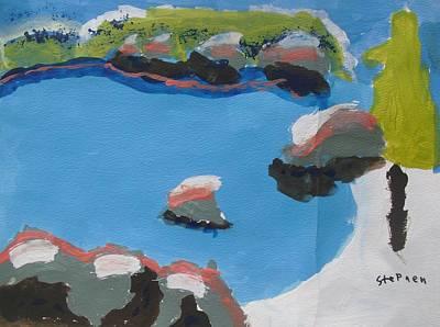 Sand Harbor Beach Original by Stephen Schwartz