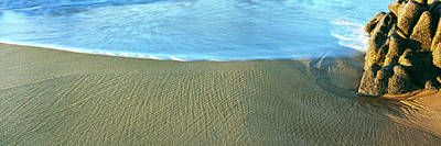 Lands End Photograph - Sand Patterns And Surf On The Beach by Panoramic Images
