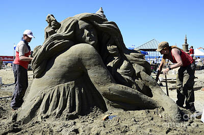 Sand Sculpture 1 Print by Bob Christopher
