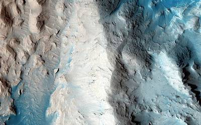 Sand Slopes On Mars Print by Nasa/jpl-caltech/university Of Arizona