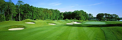 Sand Traps In A Golf Course, River Run Print by Panoramic Images