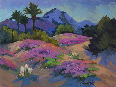 Verbena Painting - Sand Verbena Back Lit by Diane McClary
