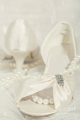 Sandals And Pearls Print by Amanda Elwell