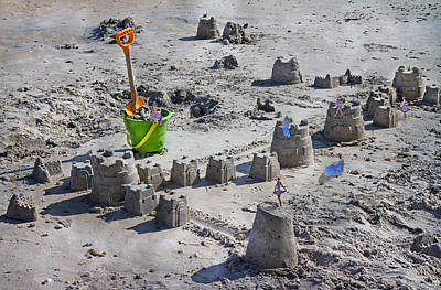 Sand Castles Digital Art - Sandcastle Squatters by Betsy Knapp