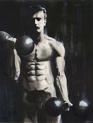 Bodybuilding Painting - Sandow by Ted Hammond