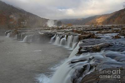 Landsacape Photograph - Sandstone Falls At New River Gorge by Adam Jewell