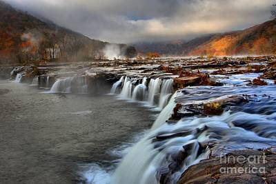 Landsacape Photograph - Sandstone Falls In Sandstone West Virginia by Adam Jewell