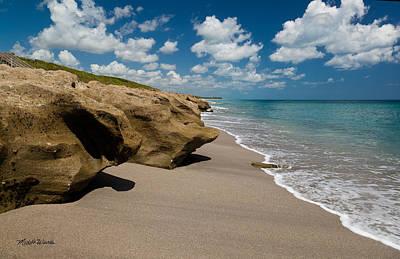 Sandstone Shoreline Print by Michelle Wiarda