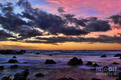 Sandy Beach South Shore Oahu Hawaii Print by Leslie Kirk