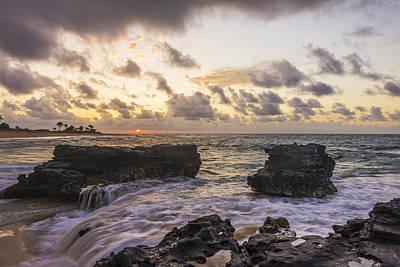 Sandy Beach Sunrise 1 - Oahu Hawaii Print by Brian Harig