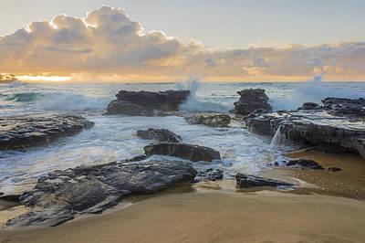 Sand Photograph - Sandy Beach Sunrise 12 - Oahu Hawaii by Brian Harig