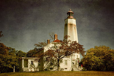 Sandy Hook Lighthouse Original by Joan Carroll