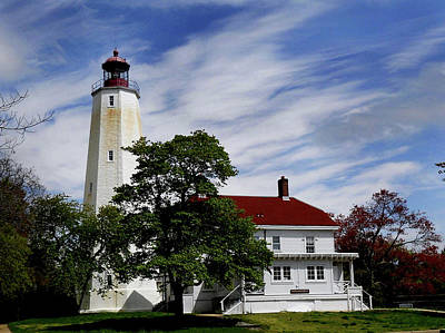 Beautiful Lighthouses Photograph - Sandy Hook Lighthouse Nj by Skip Willits