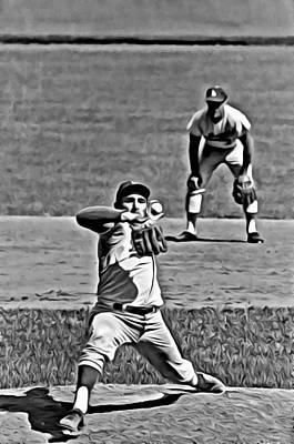 Baseball Pitchers Painting - Sandy Koufax Painting by Florian Rodarte