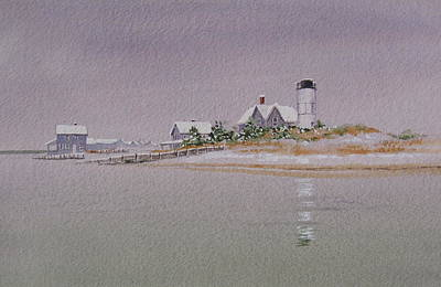 Sandy Neck Winter Light Print by Karol Wyckoff