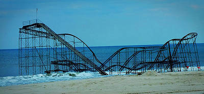 Rollercoaster Photograph - Sandy's Rollercoaster by William Walker