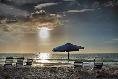 Empty Chairs Photograph - Sanibel Ease II by Steven Ainsworth