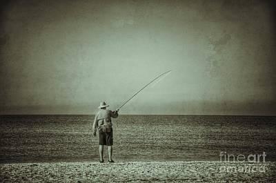 Photograph - Sanibel Fisherman by Frank Williams