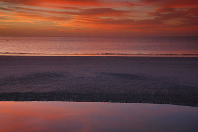 Bowmans Beach Photograph - Sanibel Sunset I by Steven Ainsworth