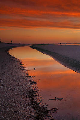 Bowmans Beach Photograph - Sanibel Sunset II by Steven Ainsworth
