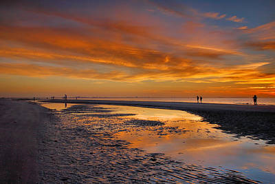 Bowmans Beach Photograph - Sanibel Sunset IIi by Steven Ainsworth