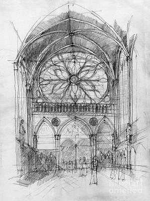 Sant Cahpelle Interior Print by Peut Etre