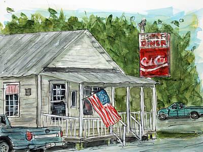 Nashville Painting - Santa Fe Diner by Tim Ross