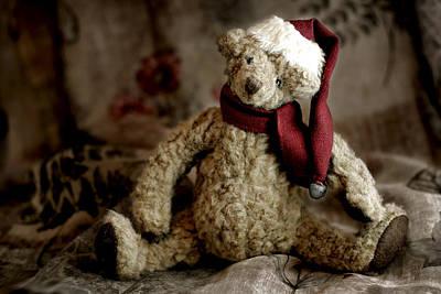 Santa Bear Print by Carol Leigh