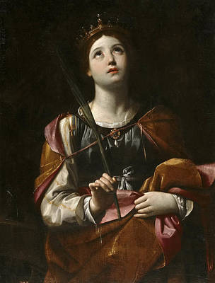 Guido Reni Painting - Santa Catalina by Guido Reni