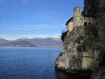 Print featuring the photograph Santa Caterina - Lago Maggiore by Travel Pics