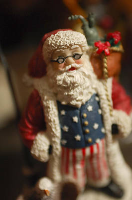 Santa Claus - Antique Ornament - 15 Print by Jill Reger