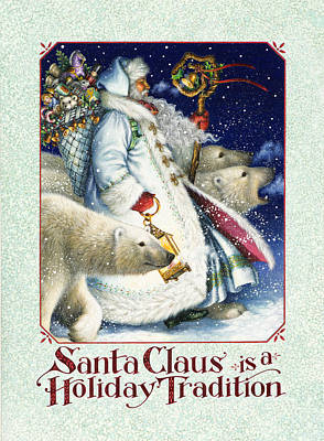 Santa Claus Painting - Santa Claus Is A Holiday Tradition by Lynn Bywaters
