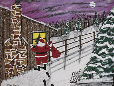 By Jeff Koss Painting - Santa Claus Is Watching by Jeffrey Koss