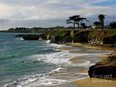 Santa Cruz Beach Print by Carol Groenen