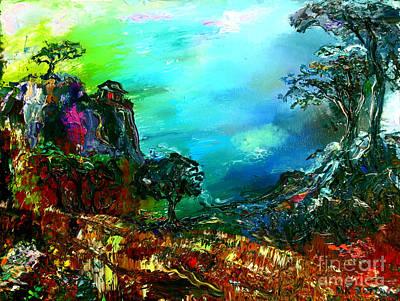 Surreal Painting - Santa Cruz Cliffs by Arthur Robins