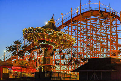 Sky Photograph - Santa Cruz Seaswing And The Giant Dipper 3 by Scott Campbell