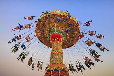 Roller Coaster Photograph - Santa Cruz Seaswing At Sunset 9 by Scott Campbell