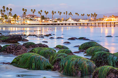Santa Cruz Pier Photograph - Santa Cruz Twilight by Adam Pender