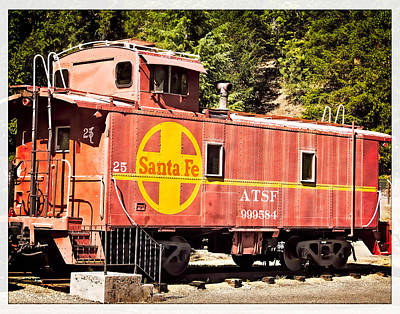 Oldzero Photograph - Santa Fe Caboose by Steve Benefiel