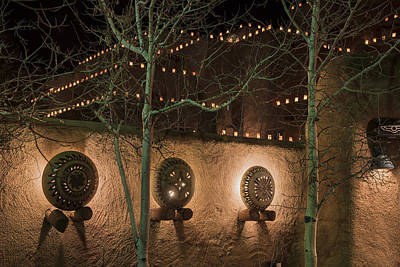 Santa Fe Pottery And Luminaries Print by Dave Dilli