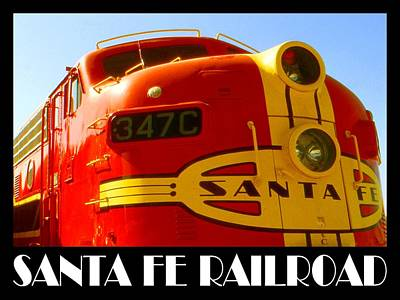Vintage Photograph - Santa Fe Railroad Color Poster by Art America Online Gallery
