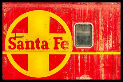 Santa Fe Railroad Red Print by Carter Jones